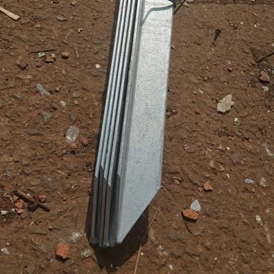 超划算热镀锌接地桩角钢50x5L2500mm电子围栏 监控防雷接地极角铁
